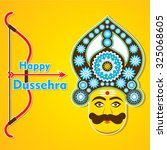 dussehra festival greeting or... | Shutterstock .eps vector #325068605
