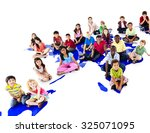 children kids ethnicity... | Shutterstock . vector #325071095