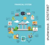 finance system concept with... | Shutterstock . vector #325073087