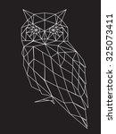 abstract owl   Shutterstock .eps vector #325073411