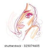 stylish original hand drawn... | Shutterstock .eps vector #325074605
