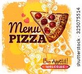 fast food restaurant menu cover ... | Shutterstock . vector #325075514