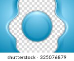 bright wavy flyer with circle.... | Shutterstock .eps vector #325076879