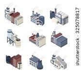 industrial buldings isometric...   Shutterstock . vector #325078817