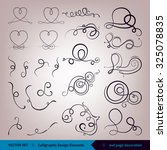 vector set of calligraphic... | Shutterstock .eps vector #325078835