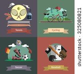 tennis cycling baseball soccer... | Shutterstock . vector #325080821