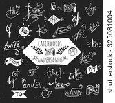 big set number 1 of handdrawn... | Shutterstock .eps vector #325081004
