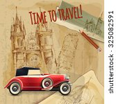 europe time to travel tagline... | Shutterstock . vector #325082591