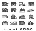 modern houses and cottages... | Shutterstock . vector #325082885
