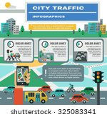 city traffic infographics set... | Shutterstock . vector #325083341