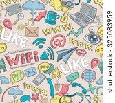 social media seamless pattern... | Shutterstock . vector #325083959
