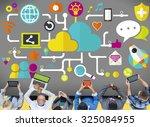 social media social networking...   Shutterstock . vector #325084955