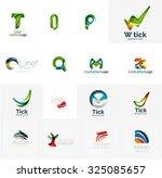 set of new universal company... | Shutterstock .eps vector #325085657