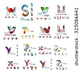 set of colorful abstract letter ... | Shutterstock . vector #325086641