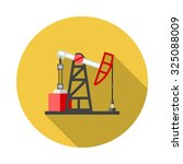 flat color vector icon for oil...   Shutterstock .eps vector #325088009