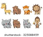 Wild Animals  Vector Set...