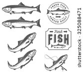 vintage fresh fish salmon...