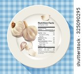 vector of nutrition facts in... | Shutterstock .eps vector #325090295