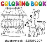 Coloring Book Deer Theme 3  ...