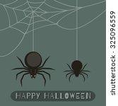 happy halloween banner. vector... | Shutterstock .eps vector #325096559