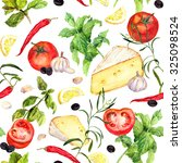 French Kitchen Pattern With...