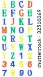 colorful alphabet of plastics...   Shutterstock . vector #32510269