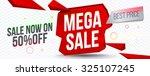 mega sale banner design.vector... | Shutterstock .eps vector #325107245