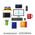 designers tools icons in flat... | Shutterstock . vector #325109441