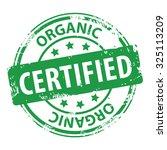 organic certified green rubber... | Shutterstock .eps vector #325113209