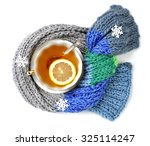Scarf  Cup Of Tea With Lemon...