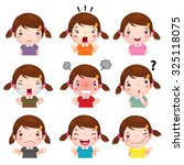 illustration of cute girl ... | Shutterstock .eps vector #325118075