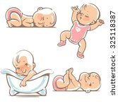 set  of cute baby girls.  0 12... | Shutterstock .eps vector #325118387