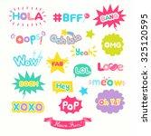 cute internet slang wording... | Shutterstock .eps vector #325120595