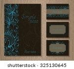 vector set of templates... | Shutterstock .eps vector #325130645
