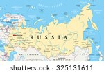 russia political map with... | Shutterstock .eps vector #325131611