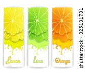 three bright banner with... | Shutterstock . vector #325131731