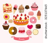 pastry and dessert vector...