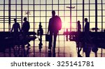 back lit business people... | Shutterstock . vector #325141781