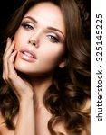close up portrait of beautiful... | Shutterstock . vector #325145225