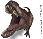 T Rex. 3d Render With Clipping...