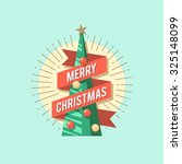 christmas card. christmas tree. ... | Shutterstock .eps vector #325148099
