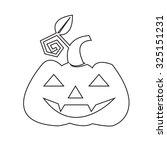 halloween pumpkin icon | Shutterstock .eps vector #325151231