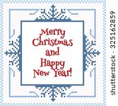 christmas card design with... | Shutterstock .eps vector #325162859