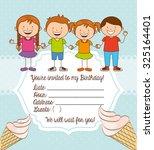 delicious ice cream design ... | Shutterstock .eps vector #325164401