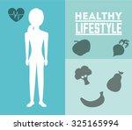healthy lifestyle design ...   Shutterstock .eps vector #325165994