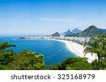 tropical view of copacabana... | Shutterstock . vector #325168979