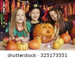 this pumpkin is our common work  | Shutterstock . vector #325173551