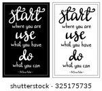 inspirational quote start where ...   Shutterstock .eps vector #325175735