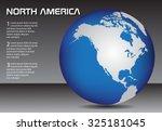 North America Globe. Earth...