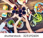 food table celebration... | Shutterstock . vector #325192604
